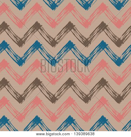 zig zag pattern, vector abstract seamless pattern with colorful lines