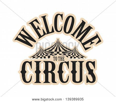 vector illustration Circus logo on a white background