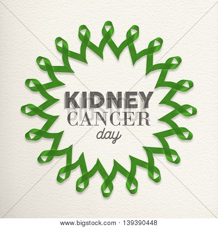 Kidney Cancer Day Mandala Made Of Ribbons