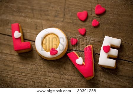 Valentine day love holiday concept, sweet cookies
