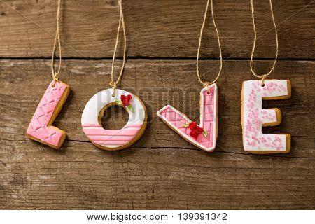 Love Cookies On Rope