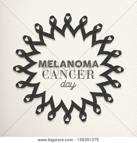 Melanoma Cancer Day Mandala Made Of Ribbons