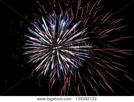 The sky is filled with fireworks on the 4th of July 2015