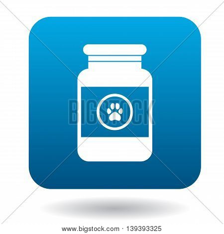 Veterinary medicament bottle icon in simple style isolated on white background