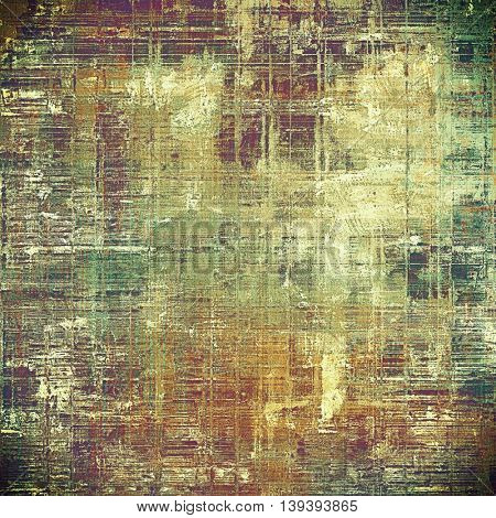 Retro texture used as abstract grunge background. Shabby backdrop with different color patterns: yellow (beige); brown; gray; green; red (orange); purple (violet)