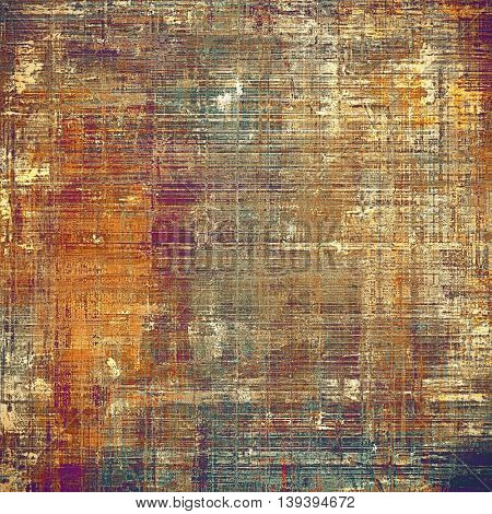 Art grunge background, vintage style textured frame. With different color patterns: yellow (beige); brown; gray; blue; red (orange); purple (violet)