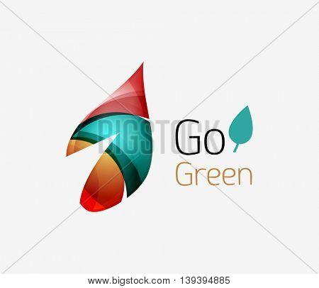 Shiny leaf icon. illustration