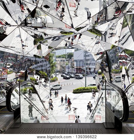 TOKYO JAPAN - JUNE 1,2016 :Omotesando Tokyo Plaza building in Harajuku, Tokyo, Japan. Tokyu Plaza Omohara is a fashion theme park shopping mall for the trendiest fashion.