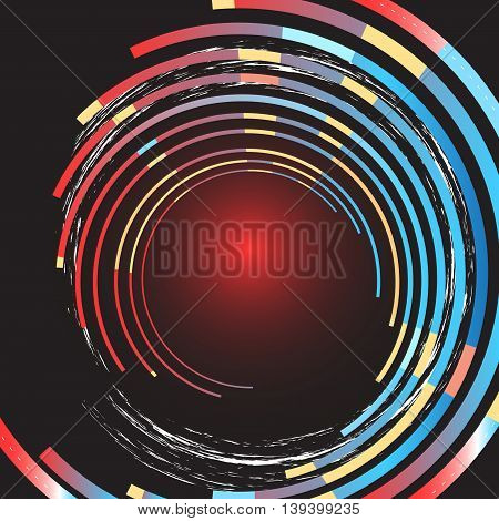 Graphic bright colorful stylish abstract swirls background