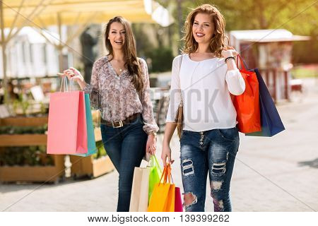Smiling Attractive Young Women