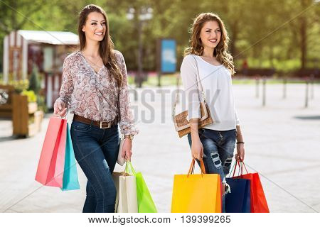 Women Are Enjoying Shopping