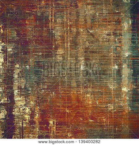 Old grunge vintage background or shabby texture with different color patterns: yellow (beige); brown; gray; green; red (orange); purple (violet)