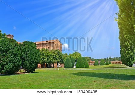 Certosa of Ferrara the ancient graveyard of the city