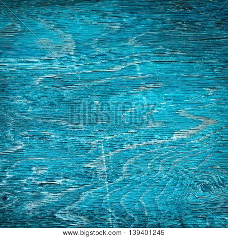 Texture from cyan blue wooden striped desk, natural grunge background