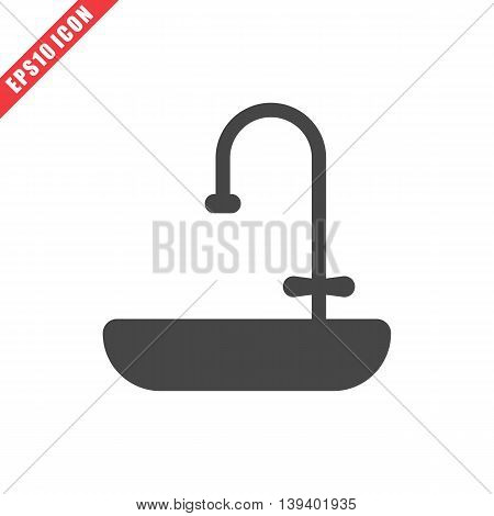 Vector Illustration Of Sink Icon
