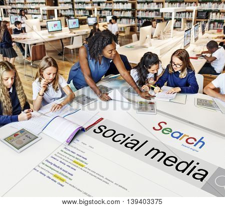Social Media Search Engine Optimization Software Concept