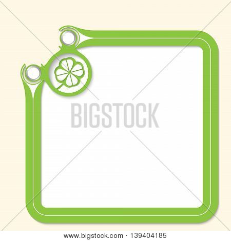 Green frame for your text and cloverleaf