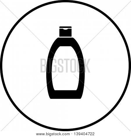 body lotion bottle symbol