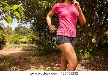 Neck To Knees Of Female Jogger