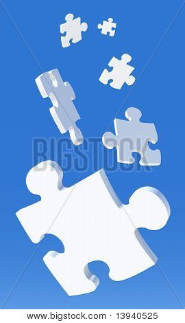 Falling Puzzle Pieces
