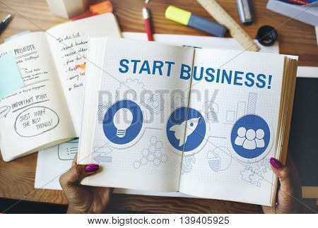 Organization Solution Start Business Vision Concept