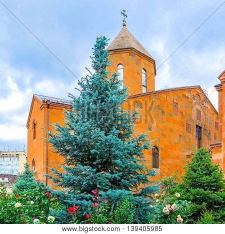 The Church of St John the Baptist is the pearl of the Kond district Yerevan Armenia.