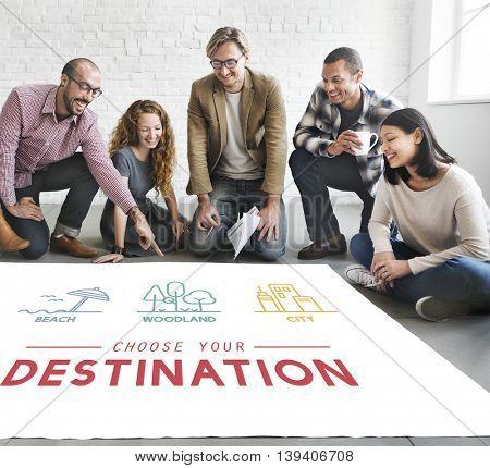 Destination Vacation Adventure Travel Trip Concept