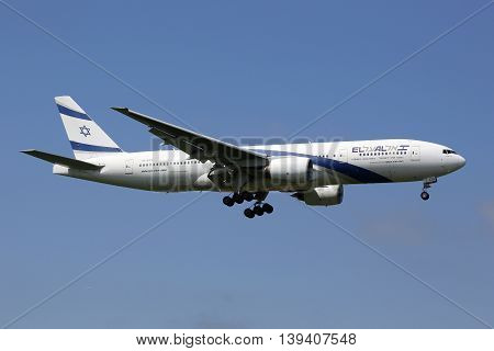 El Al Israel Airlines Boeing 777-200 Airplane