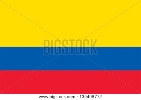 Vector Republic of Colombia flag