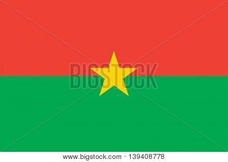Vector Burkina Faso flag