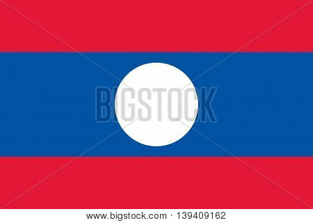 Vector Laos flag