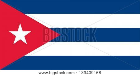 Vector Republic of Cuba flag