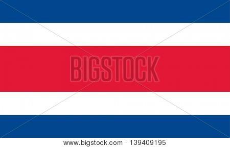 Vector Costa Rica flag