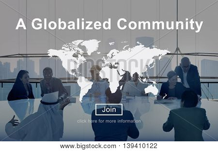 A Globalized Community Worldwide Connection Network Concept