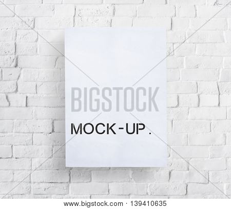 Mock Up Model Typography Object Sample Concept