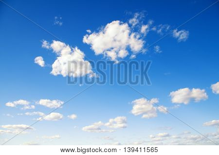 blue sky with white clouds. Nature composition.