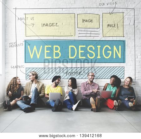 Web Design Layout Technology Website Internet Concept