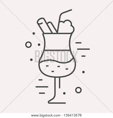 logo or label drink. Line style logotype template with cocktail. Easy to use business template. Vector abstract logo or emblem.