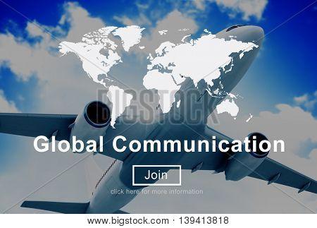 Global Communication Worldwide Website Homepage Concept
