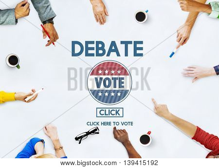 Debate Conversation Depute Talking Concept