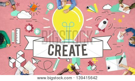 Create Ideas Imagination Plan Thinking Concept