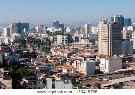 Rio de Janeiro city center and downtown skyline