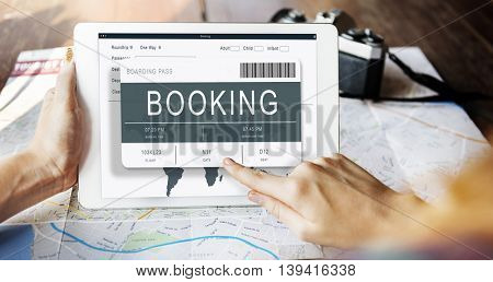 Ticket Booking Journey Travel Trip Concept