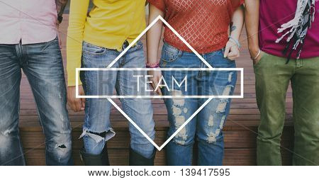 Team Teamwork Support Strategy United Alliance Concept