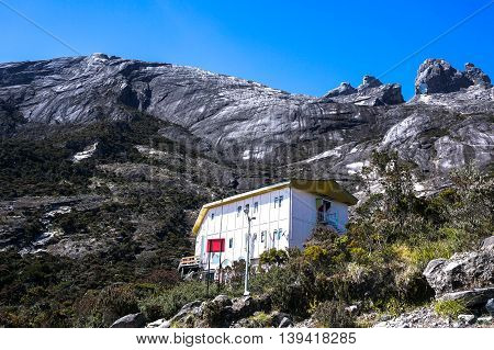 Laban Rata,Sabah,Borneo-March 12,2016:Laban Rata hostel built at 3,273 meter above sea level.The hostel is for climbers to rest before summiting to the mountain Kinabalu peak.