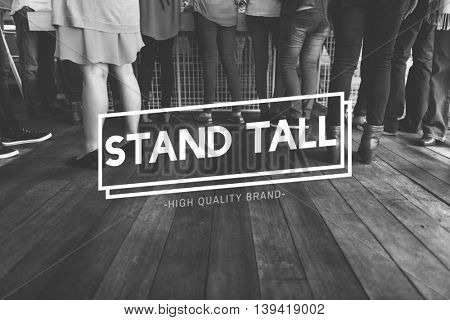 Stand Still Community Family Friends Together Concept