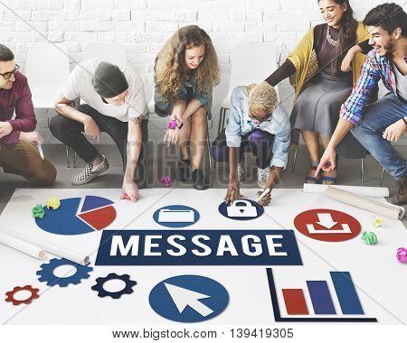 Message Process Communication Teamwork Concept