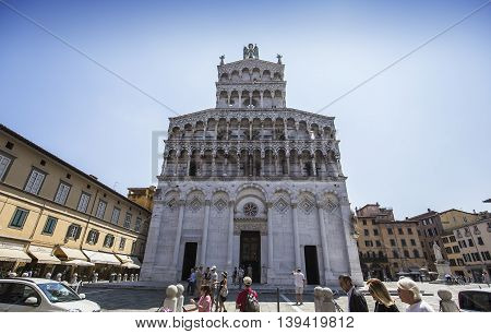 Church Of San Michele In Foro, Lucca, Italy
