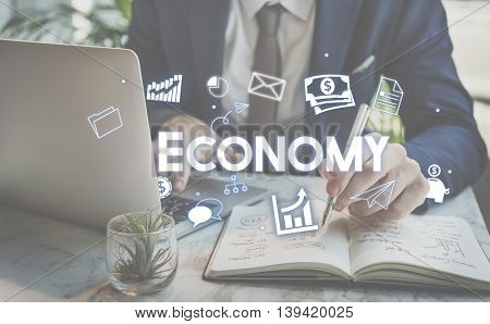 Economy Financial Business Banking Investment Concept