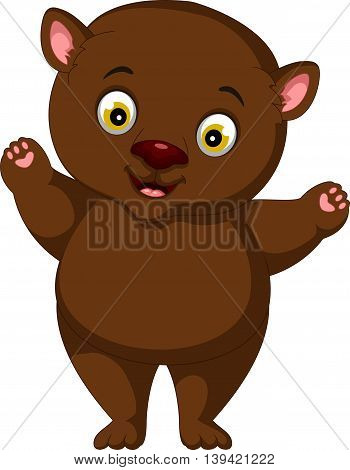 fat brown bear cartoon for you design